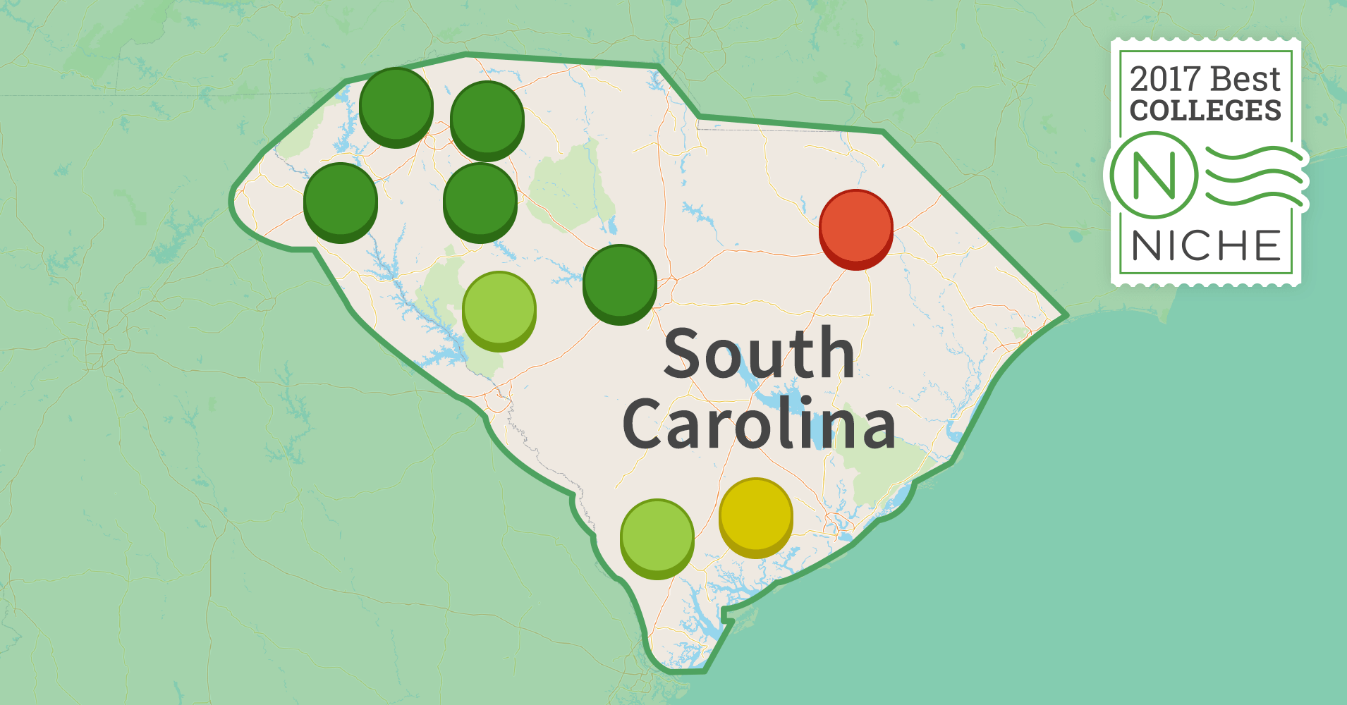 hardest colleges to get into in south carolina niche