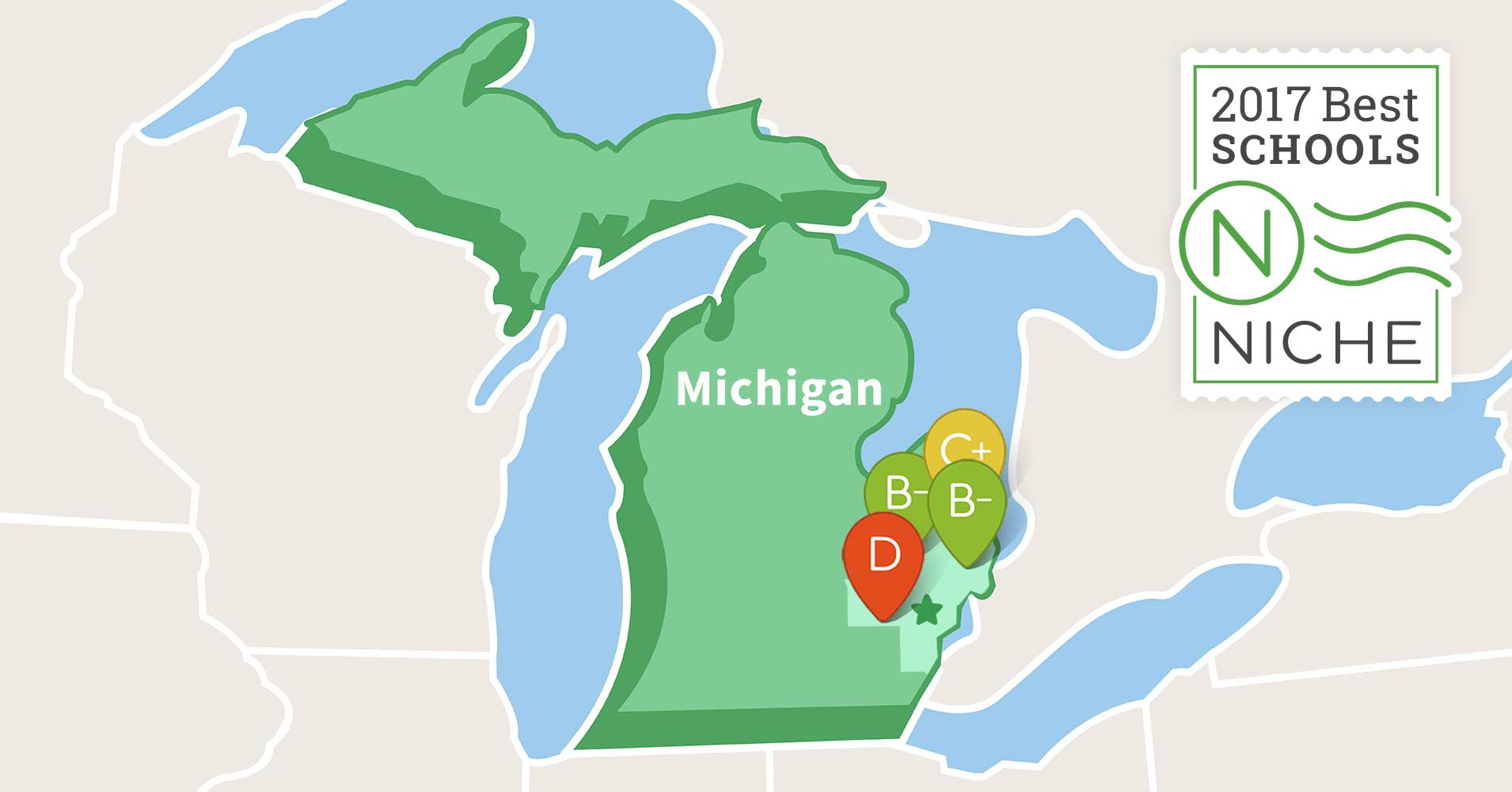 Printable Travel Maps Of Michigan Moon Travel Guides FileUSA - Map of best school districts in us