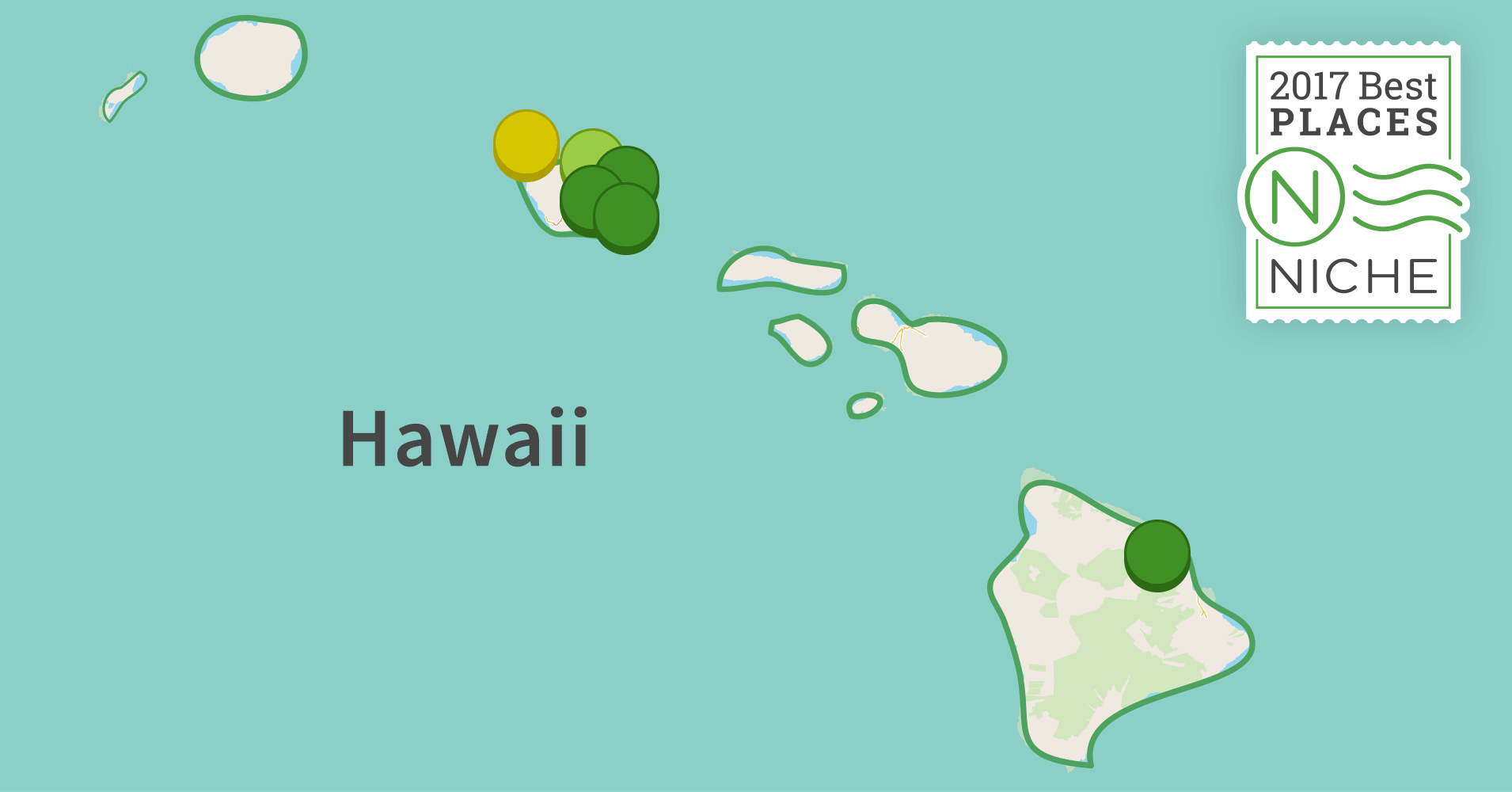 2017 most diverse places to live in hawaii niche for Top us cities to live in 2017