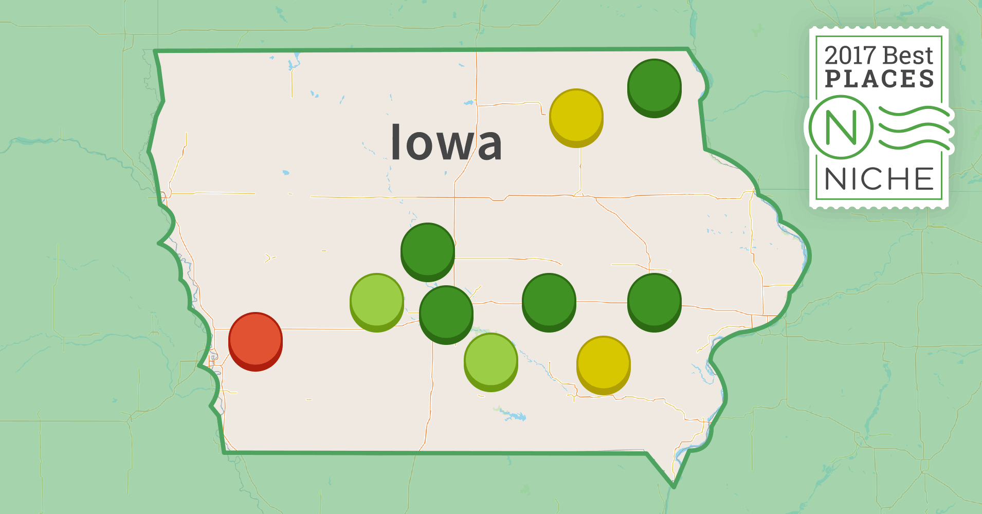2017 best places to raise a family in iowa niche